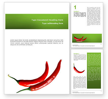 Food & Beverage: Hete Peper Word Template #02550