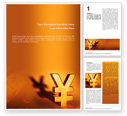 Financial/Accounting: Yen Word Template #02552