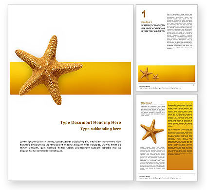 Agriculture and Animals: Star Fish Word Template #02556