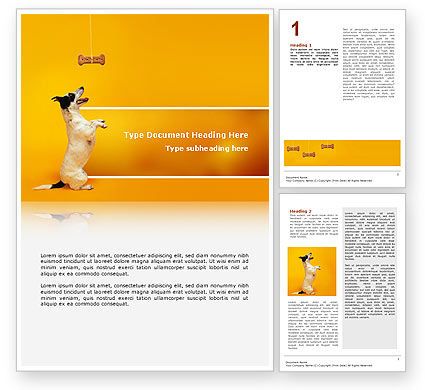 Business Concepts: Modèle Word de animal de compagnie #02559