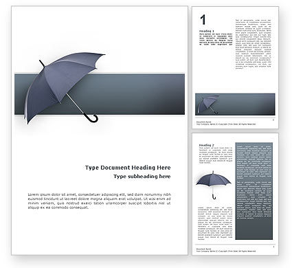 Umbrella Word Template, 02562, Business Concepts — PoweredTemplate.com