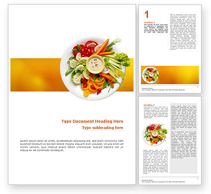 Food & Beverage: Vegetarisch Eten Word Template #02582