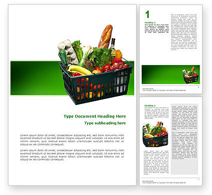 Market Basket Word Template, 02583, Careers/Industry — PoweredTemplate.com