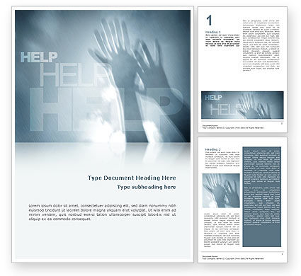 Religious/Spiritual: Help Word Template #02584