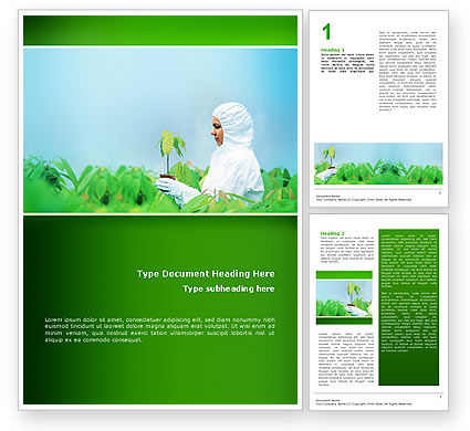 Green Plant Breeding Word Template, 02586, Technology, Science & Computers — PoweredTemplate.com