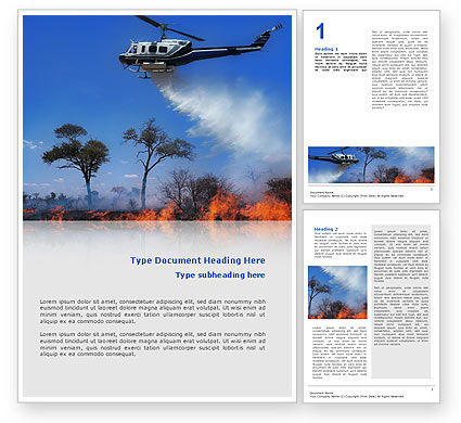 Wildfire Word Template, 02591, Cars/Transportation — PoweredTemplate.com