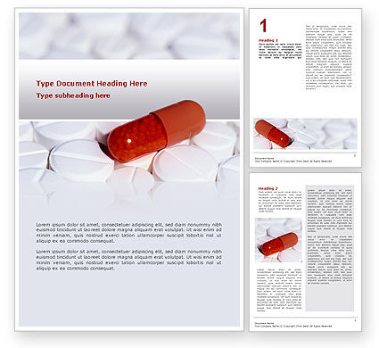 Medical: Medication Word Template #02592