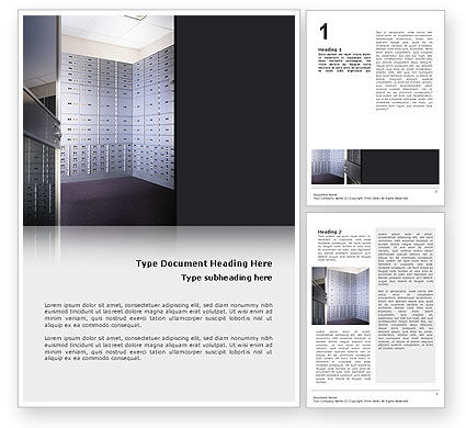 Financial/Accounting: Safe Deposit Boxes Word Template #02593