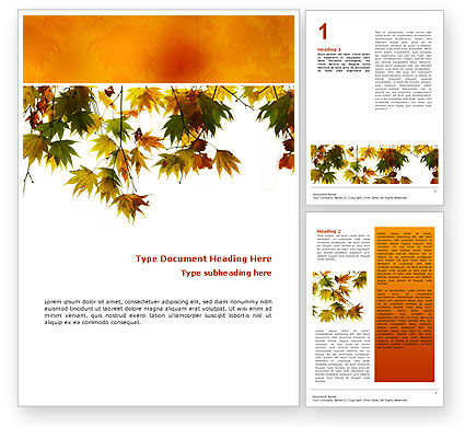 Autumn Mood Word Template