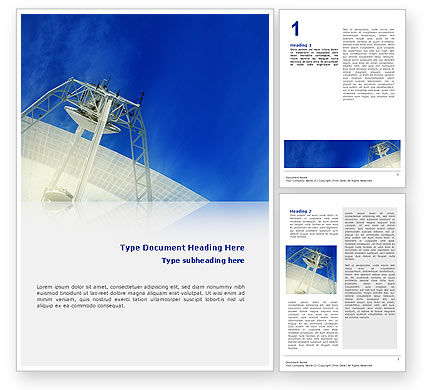 Telecommunication: Communication Arial Technology Word Template #02598