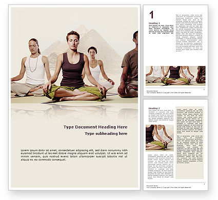 Religious/Spiritual: Holistic Medicine Word Template #02612