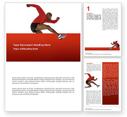 Sports: Breaking Barriers Word Template #02629