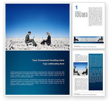 Internet Communication Word Template, 02631, Business Concepts — PoweredTemplate.com