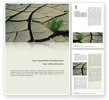 Nature & Environment: Drought Word Template #02635