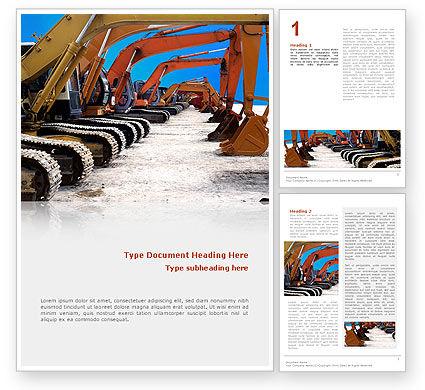 Utilities/Industrial: Heavy Construction Equipment Word Template #02636