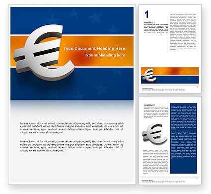 Financial/Accounting: European Union Word Template #02642