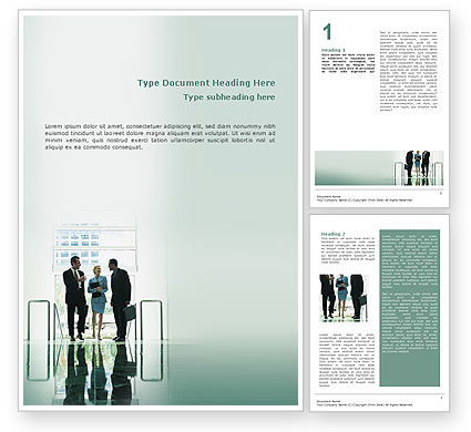 Corporate Word Template, 02647, People — PoweredTemplate.com