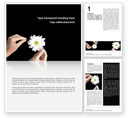 Chamomile Word Template