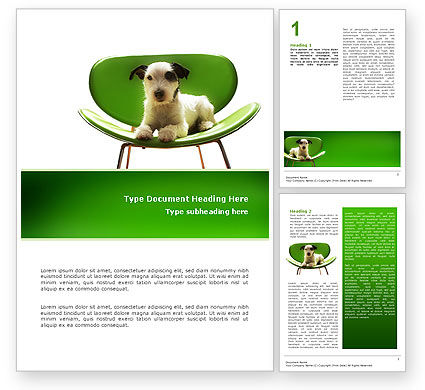 Puppy Word Template, 02658, Abstract/Textures — PoweredTemplate.com