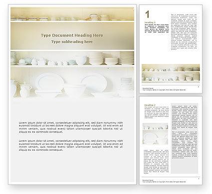 Kitchen Word Template, 02661, Abstract/Textures — PoweredTemplate.com
