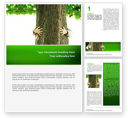 Nature & Environment: Tree Word Template #02666