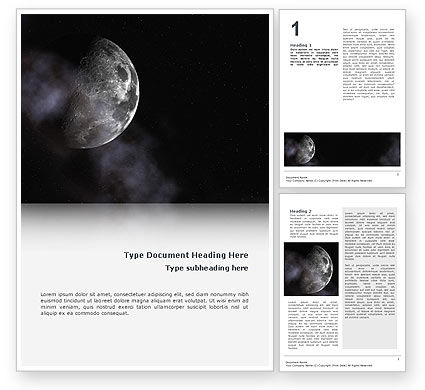 Nature & Environment: Moon Word Template #02670