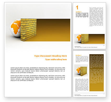 Global: Firewall Word Template #02681