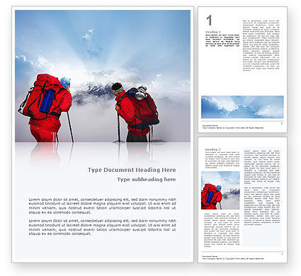 Alpinist Word Template, 02682, Sports — PoweredTemplate.com
