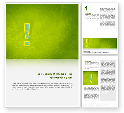 Exclamation Mark Word Template, 02683, Abstract/Textures — PoweredTemplate.com