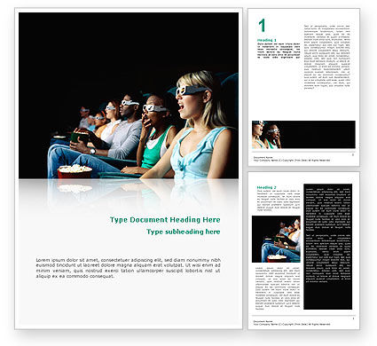 Cinema Word Template, 02684, Art & Entertainment — PoweredTemplate.com
