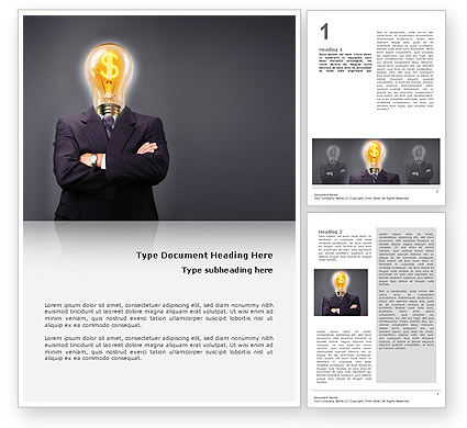 Business Concepts: Make Money Word Template #02696