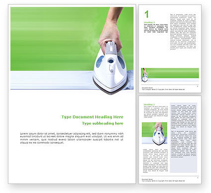 Ironing Word Template, 02697, Technology, Science & Computers — PoweredTemplate.com