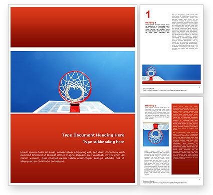 Basket Word Template, 02699, Sports — PoweredTemplate.com