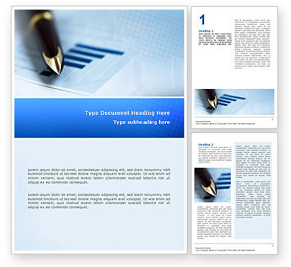 Business Word Template, 02702, Business — PoweredTemplate.com