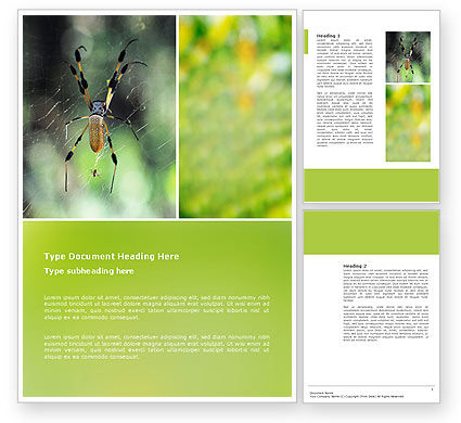 Agriculture and Animals: Spider Word Template #02704
