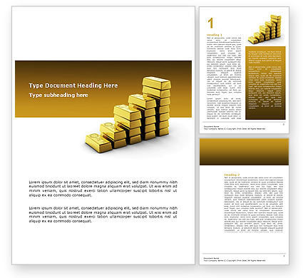 Gold Reserves Word Template, 02717, Financial/Accounting — PoweredTemplate.com