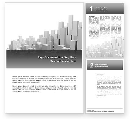 Financial/Accounting: Megalopolis Word Template #02726