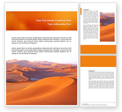Red Desert Word Template, 02728, Nature & Environment — PoweredTemplate.com