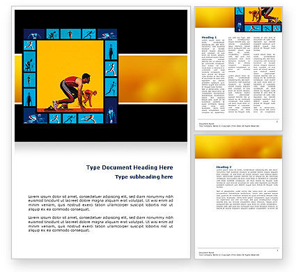 Athletics Word Template, 02729, Sports — PoweredTemplate.com