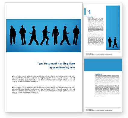 Movement Of People Word Template, 02732, Business — PoweredTemplate.com