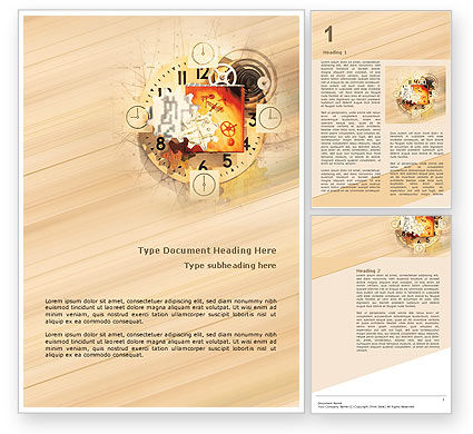 Clockwork Word Template, 02734, Abstract/Textures — PoweredTemplate.com