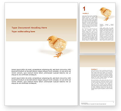 Chicken Word Template, 02737, Agriculture and Animals — PoweredTemplate.com