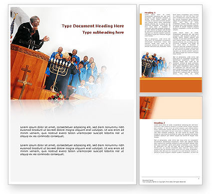 Religious/Spiritual: Choir Word Template #02738