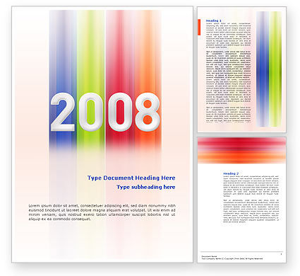 NYr 2008 in color Word Template, 02747, Business Concepts — PoweredTemplate.com