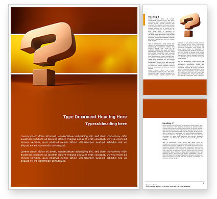 Consulting: Question Mark In 3D Word Template #02749
