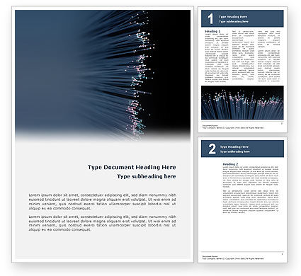 Telecommunication: Optic Fiber Word Template #02753