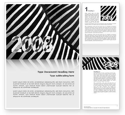 Business Concepts: Zebra 2008 Word Template #02762