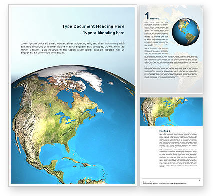 Animated Earth Word Template, 02767, Global — PoweredTemplate.com