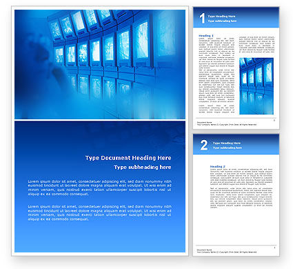 Security Service Word Template, 02771, Telecommunication — PoweredTemplate.com