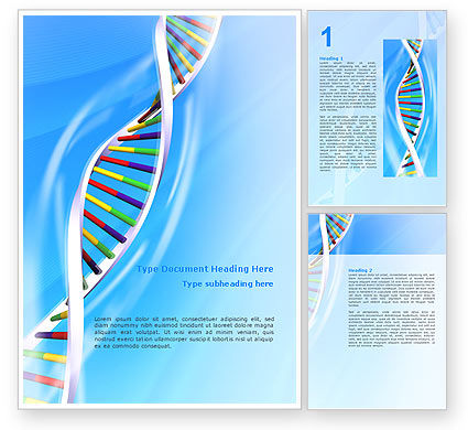 Medical: Genome Word Template #02774